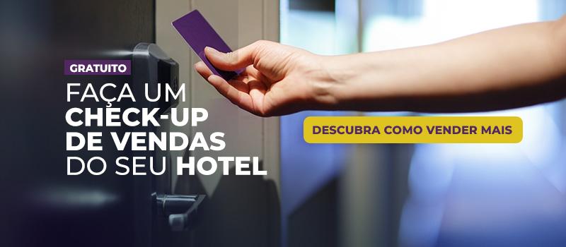 Check-up de vendas para hotelaria.