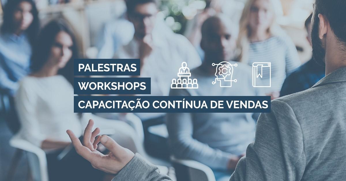 diferença de palestras de vendas workshop de vendas e capacitação educação contínua de vendas